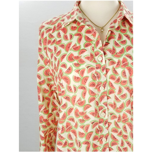 f8d1508e86f9 J. Crew Factory Tops | J Crew Perfect Fit Watermelon Shirt Button ...